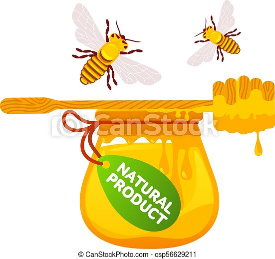 Abejas y miel - csp56629211