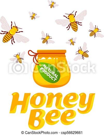Abejas y miel - csp56629661