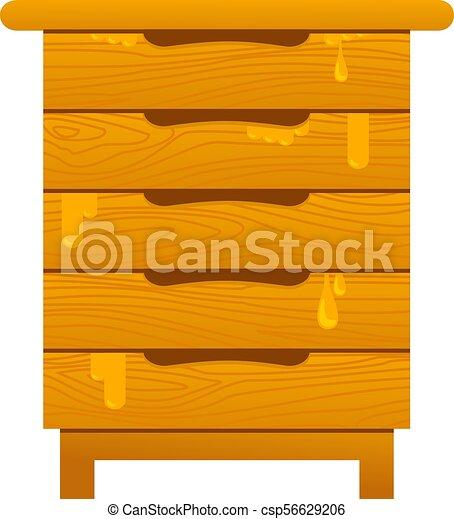 Abejas y miel - csp56629206