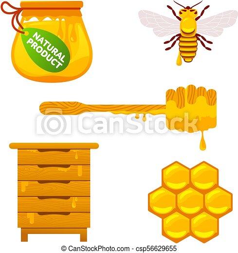 Abejas y miel - csp56629655