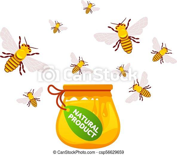 Abejas y miel - csp56629659