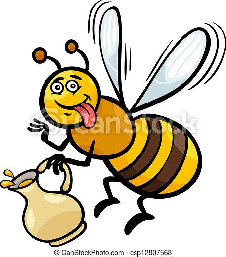 Favori Clipart vecteur de miel, insecte, dessin animé, illustration  FO46