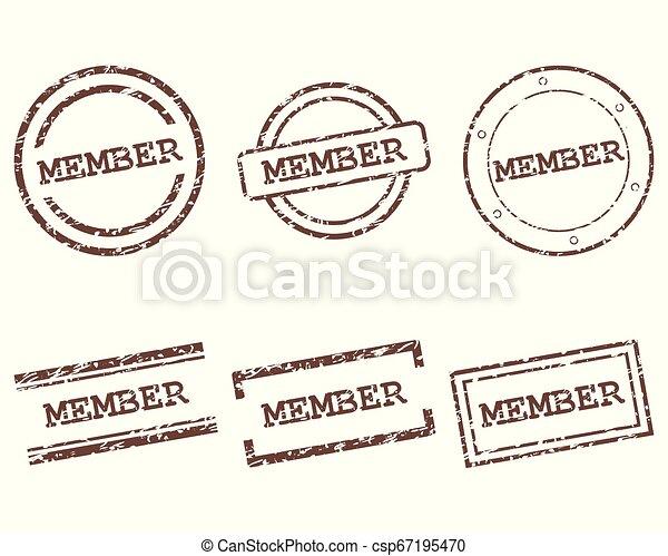 miembro, sellos - csp67195470
