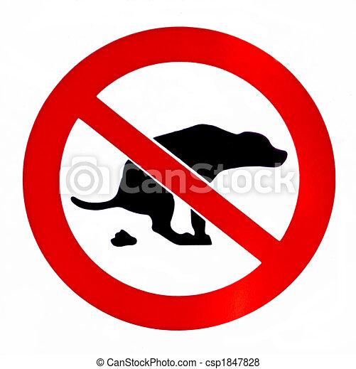 Nada de caca de perro - csp1847828