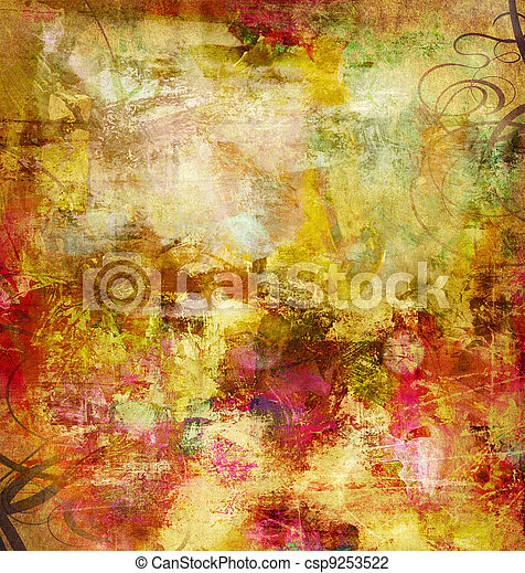 mieszane media, abstrakcyjny - csp9253522