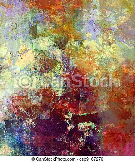 mieszane media, malarstwo - csp9167276