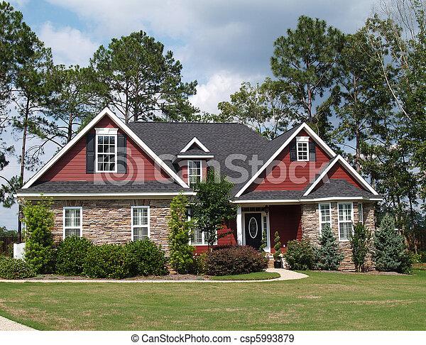 mieszkaniowy, historia, dwa, dom - csp5993879
