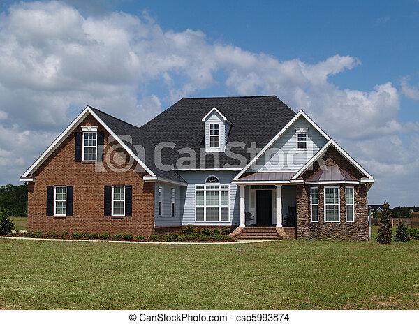 mieszkaniowy, historia, dwa, dom - csp5993874
