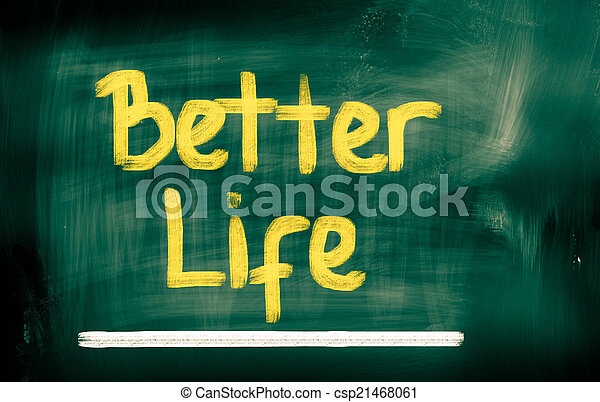 mieux, vie, concept - csp21468061