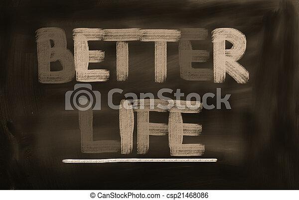 mieux, vie, concept - csp21468086