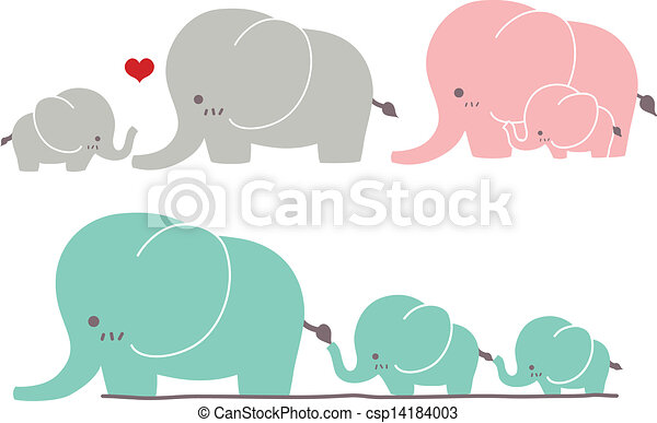 mignon, éléphant - csp14184003