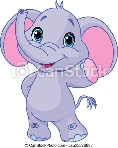 mignon, éléphant - csp25876833