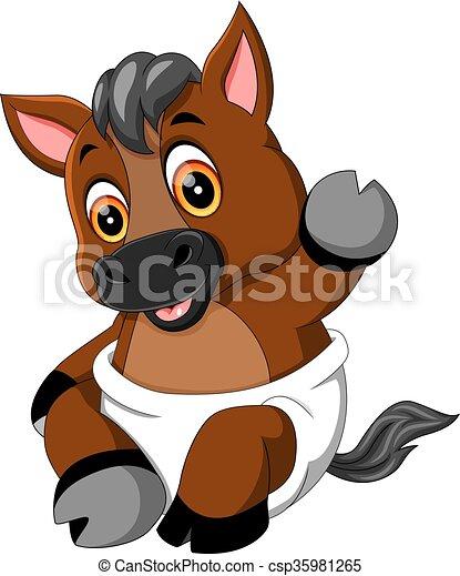 B b mignon cheval dessin anim illustration - Dessin anime indien cheval ...