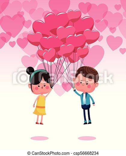 Mignon Couple Amour Dessins Animes Mignon Graphique Amour