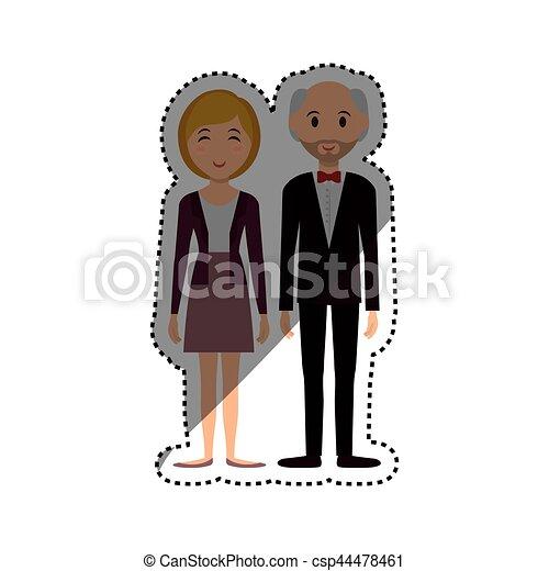 Mignon Couple Dessin Anime Mignon Graphique Couple