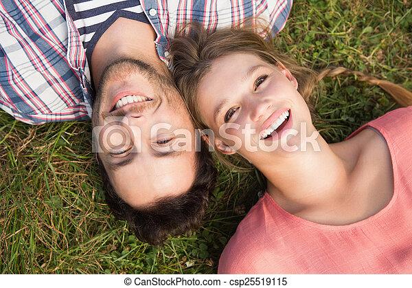 mignon, couple, parc - csp25519115