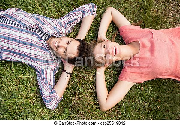 mignon, couple, parc - csp25519042