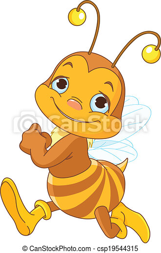 mignon, courant, abeille - csp19544315