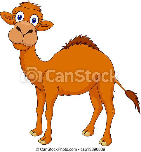 mignon, dessin animé, chameau - csp13390889