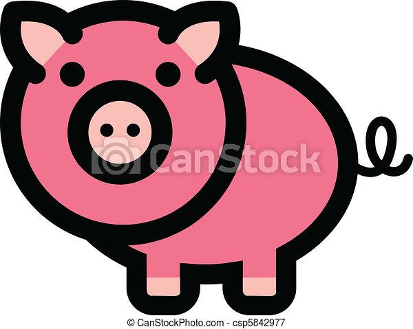 Mignon dessin anim cochon rigolote mignon basse cour cochon amusement animal dessin - Image de cochon mignon ...