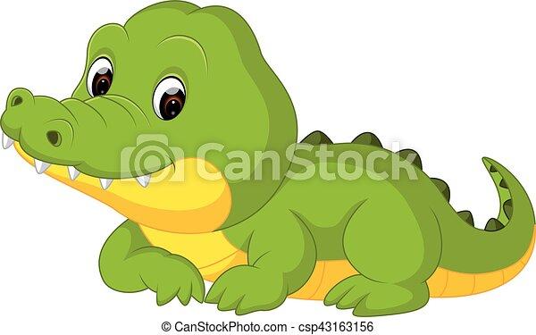 Mignon dessin anim crocodile crocodile dessin anim illustration mignon - Dessin anime crocodile ...