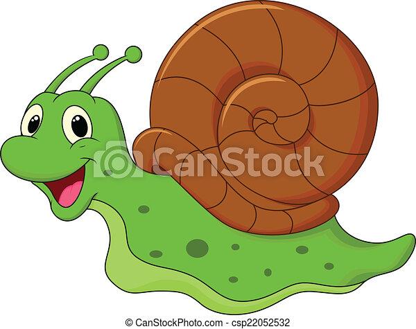 Mignon dessin anim escargot mignon vecteur - Clipart escargot ...