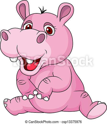 Mignon dessin anim hippopotame s ance hippopotame - Dessin d hippopotame ...