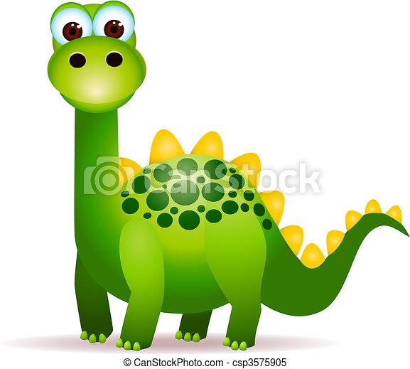 mignon, dinosaures - csp3575905