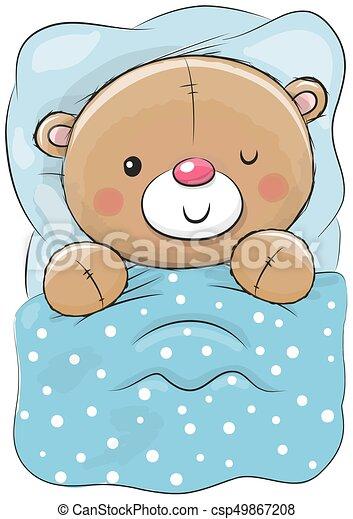 Mignon Dormir Dessin Animé Ours Teddy