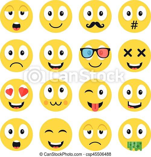mignon ensemble emoji rigolote diffrent bonheur icnes amour - Dessin Emoji