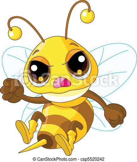 mignon, fâché, abeille - csp5520242