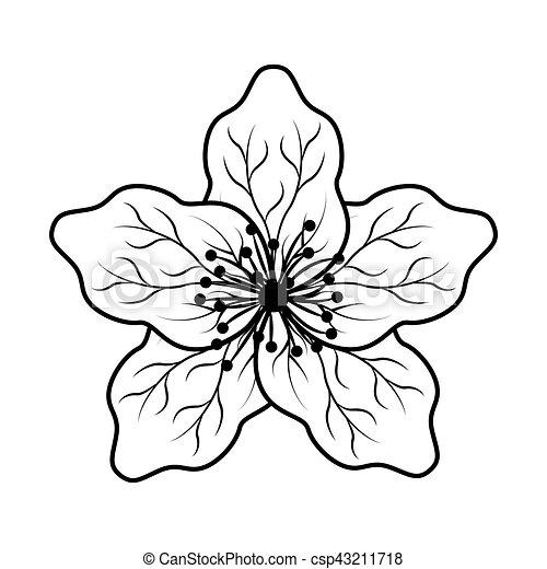 mignon fleur japonaise ic ne mignon fleur japonaise. Black Bedroom Furniture Sets. Home Design Ideas