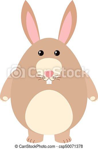 mignon, fourrure, lapin, brun - csp50071378