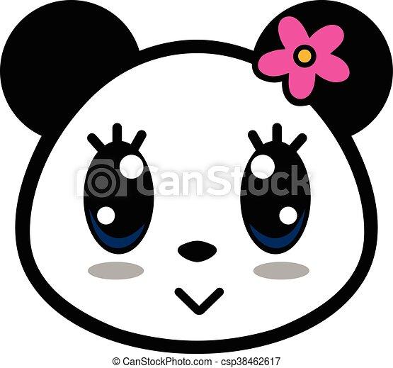 Mignon Girl Panda Dessin Animé