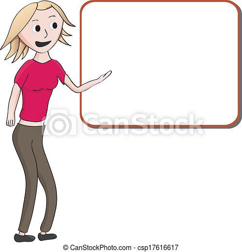 mignon, girl, présentation - csp17616617