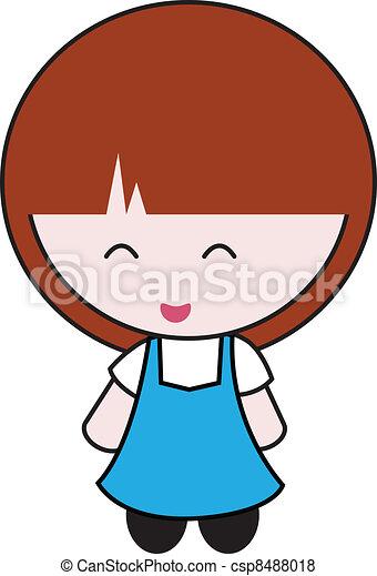 mignon, girl - csp8488018