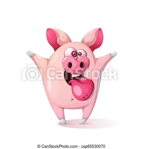 Mignon Illustration Cochon Dessin Animé Enfants