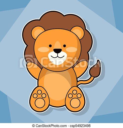 Mignon Image Lion Animal Bébé Dessin Animé Mignon Image