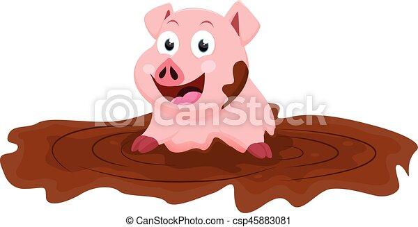 Mignon jeu boue dessin anim cochon mignon jeu - Dessin cochon mignon ...