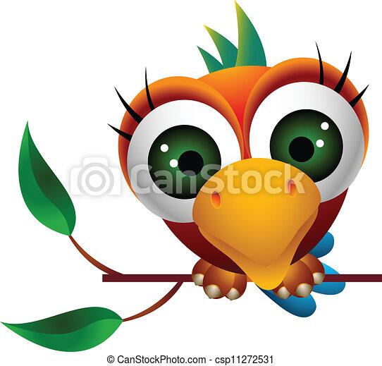 Dessin animé oiseau