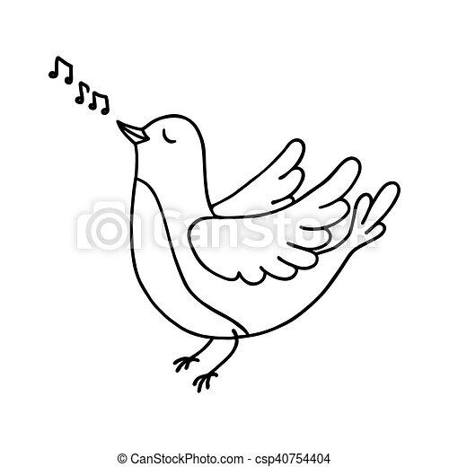 mignon, oiseau chant - csp40754404