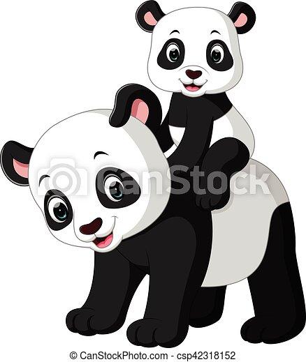 mignon panda dessin anim mignon dessin anim clipart vectoriel rechercher. Black Bedroom Furniture Sets. Home Design Ideas