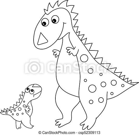 Mignon Peu Dinosaure Vecteur Bébé Dessin Animé