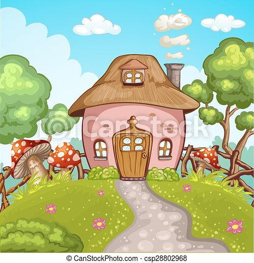 Mignon Peu Jardin Maison
