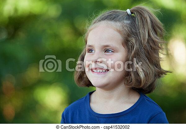 mignon, peu, parc, girl - csp41532002