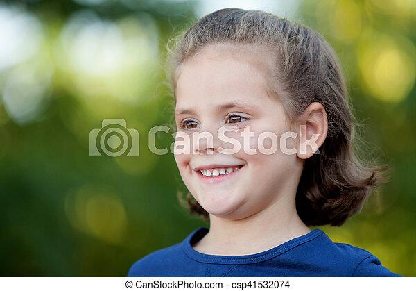 mignon, peu, parc, girl - csp41532074