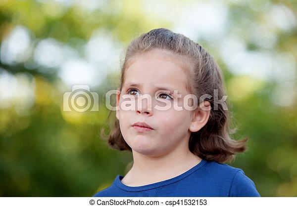 mignon, peu, parc, girl - csp41532153