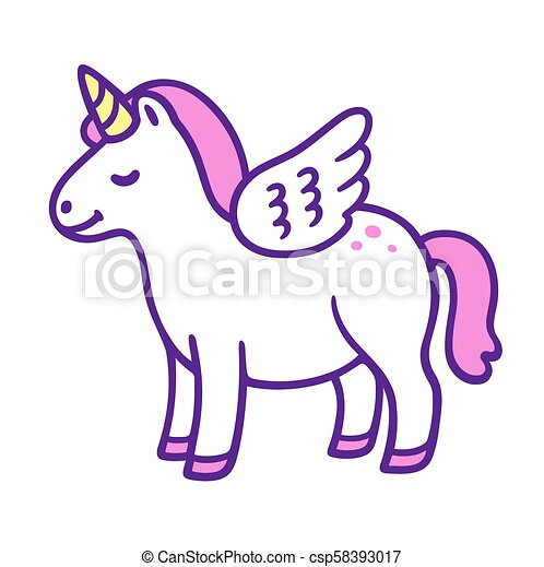 Mignon poney dessin anim licorne wings rigolote peu illustration girly mignon pony - Dessin anime avec des poneys ...