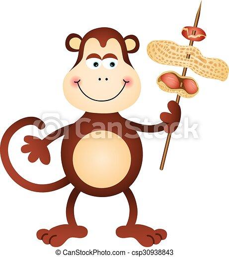 Mignon Porter Singe Cacahuètes