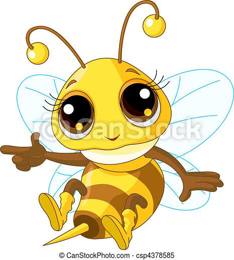 mignon, projection, abeille - csp4378585